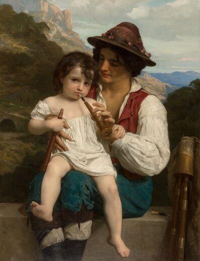 William-Adolphe Bouguereau, 'La leçon de flûte', 1868