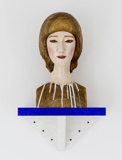 Tanada Koji, 'head of a boy with blue border', 2020