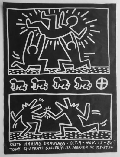 Keith Haring, 'Tony Shafrazi Gallery poster, drawings ', 1982