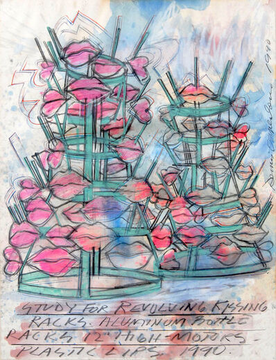 Dennis Oppenheim, 'Study for Revolving Kissing Racks', 1990