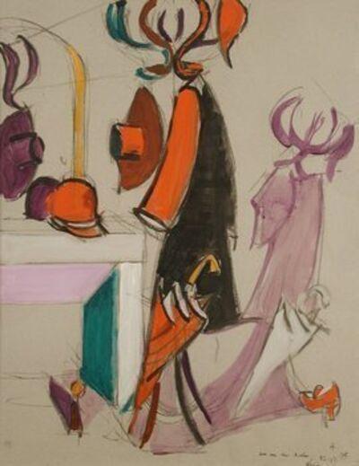 Jean Hélion, 'Perroquet au miroir', 1975