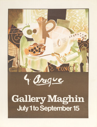 Georges Braque, 'Gallery Maghin Braque Exhibition', ca. 1960