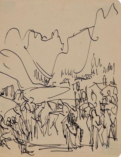 Ernst Ludwig Kirchner, 'Ringer in den Bergen (Wrestlers in the Mountains)', 1926