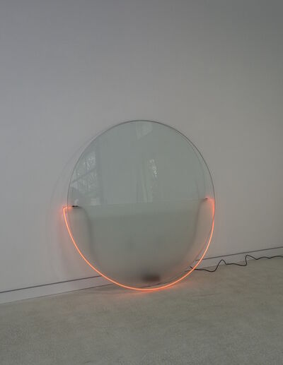 Keith Sonnier, 'Red Lit Circle with Etched Glass (Lit Circle Series)', 1968