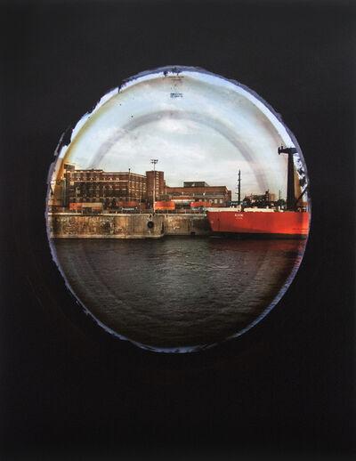 April Hickox, 'Vantage Point: Portholes (Red Boat No 2)', 2016