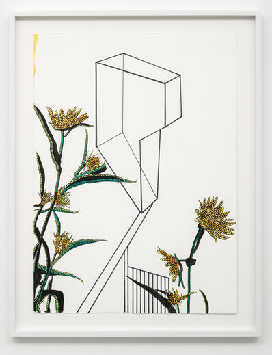 Jason Middlebrook, 'Studies of Line, Color, and Plants #8', 2017