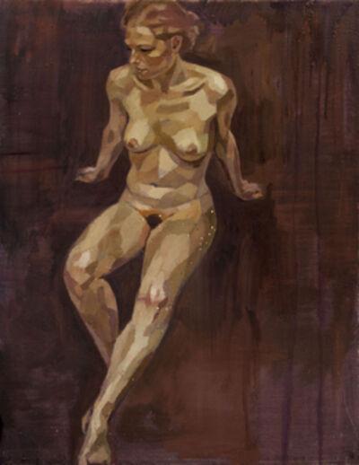 Jonathan Yeo, 'Chiara I Maroon Background', 2010