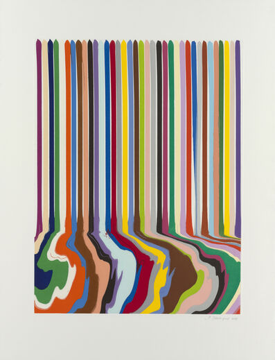 Ian Davenport, 'Etched Lines: Thirty-Six', 2009