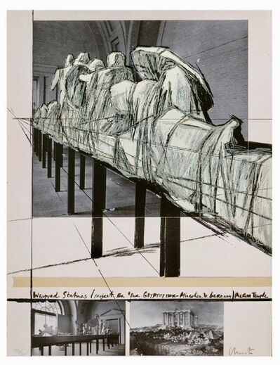 "Javacheff Christo, 'Aegena Temple Project for ""Die Glypotek""', 1988"