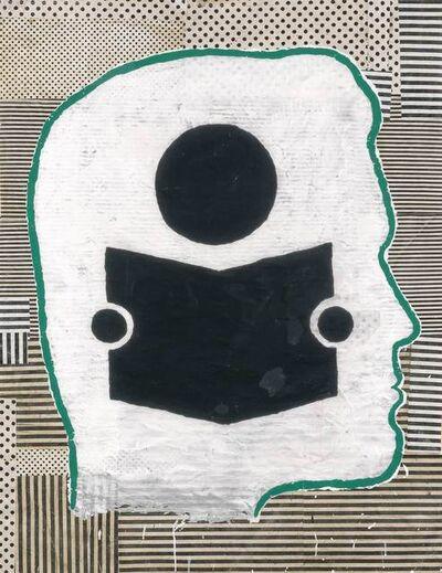 Donald Baechler, 'Profile with Child Reading', 1994