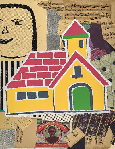 Donald Baechler, 'Yellow House from Some of My Subjects', 2001