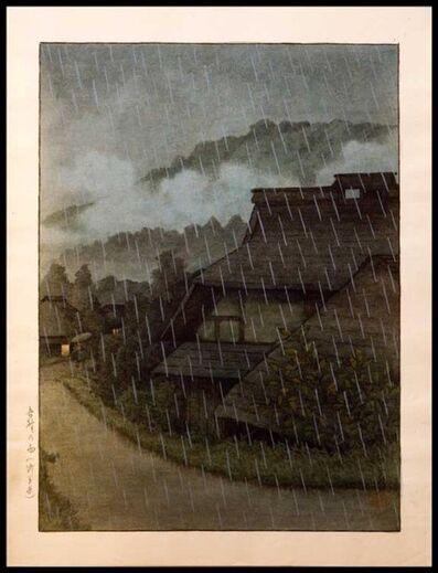 Kawase Hasui, 'Rain in Goyo, Saitama', 1920-1930