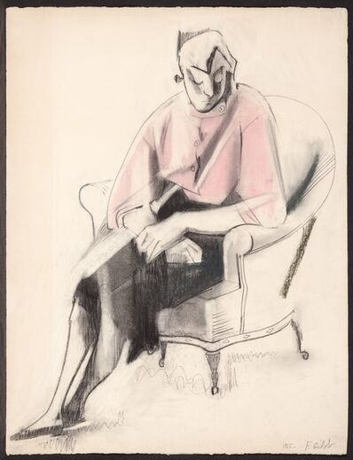 Françoise Gilot, 'Germaine in a Pink Blouse', 1955