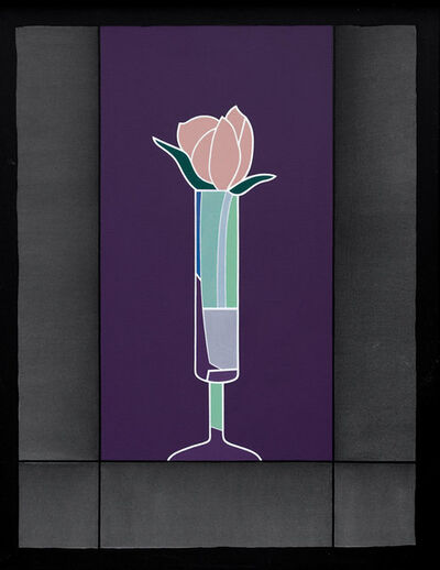Derrick Greaves, 'Rose (Purple and Black)', 1995