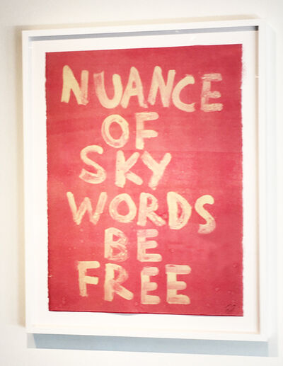 Edgar Heap of Birds, 'NUANCE OF SKY WORDS BE FREE', 2019