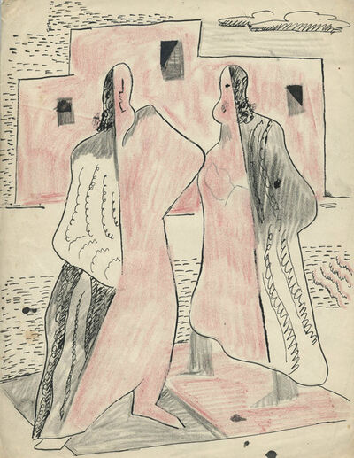 R. Leroy Turner, 'Untitled (Two Figures)', ca. 1930s