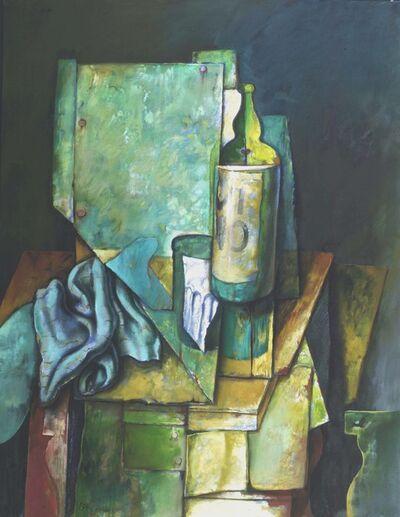 Samuel Bak, 'Vino with Green Cloth', 1983-1988