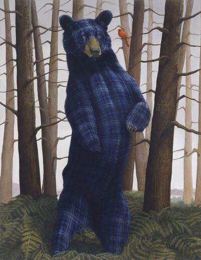 Sean Landers, 'Sincerity and Empathy (Black Bear and Cardinal)', 2014