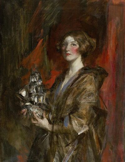 James Jebusa Shannon, 'Kitty and the Silver Ship', ca. 1909