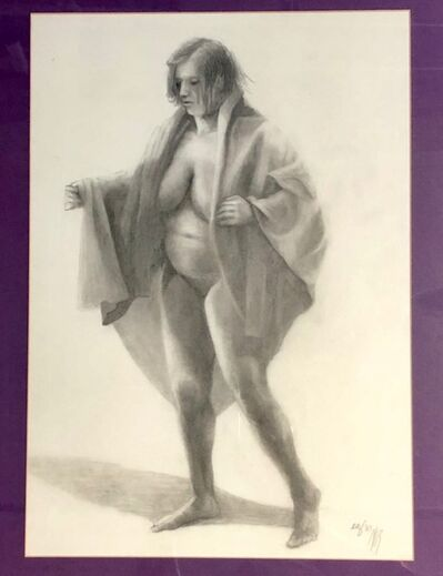 Elodia Arellano Fanjul, 'Figure on Purple ', 2006