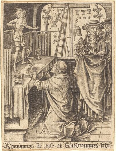 Israhel van Meckenem, 'The Mass of Saint Gregory', ca. 1480/1490