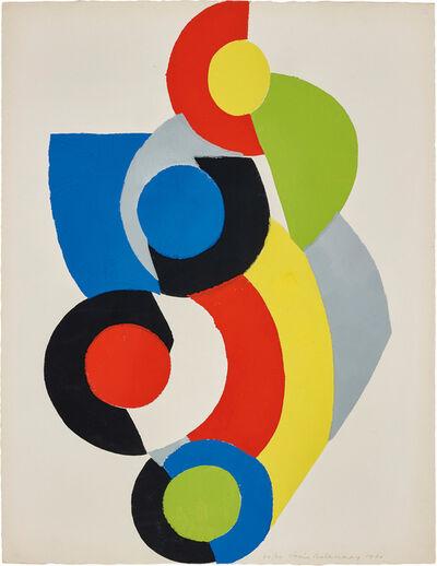 Sonia Delaunay, 'Poésie de Mots, Poésie de Couleurs (The Poetry of Words, The Poetry of Colours): one plate', 1961