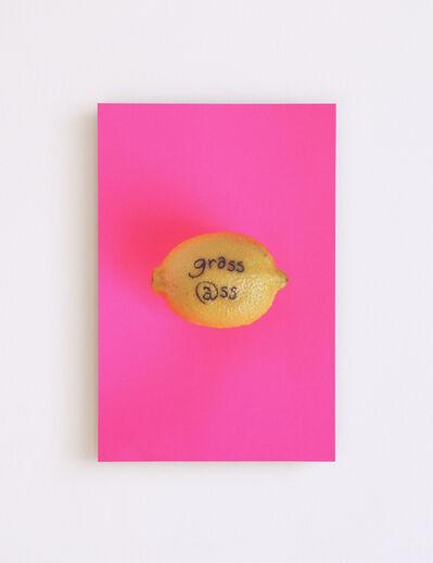 Amanda Wachob, 'Grass @ss (tattooed lemon)', 2015
