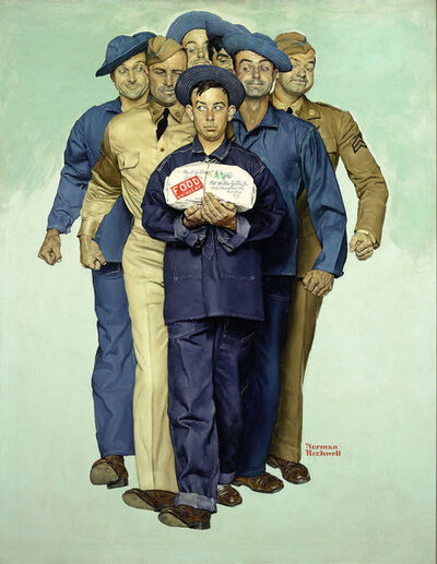 Norman Rockwell, 'Willie Gillis: Package From Home', 1941