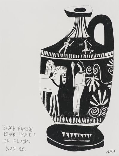 Jonas Wood, 'Untitled (Black Figures Black Horses)', 2009