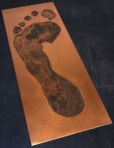 Jonathan Borofsky, 'Foot Print in Copper (left)', 1986