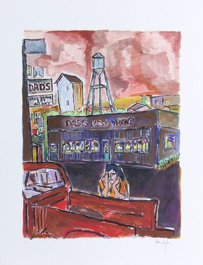Bob Dylan, 'Bob Dylan Dads Restaurant Signed Giclee Etching - Contemporary Art', 2008