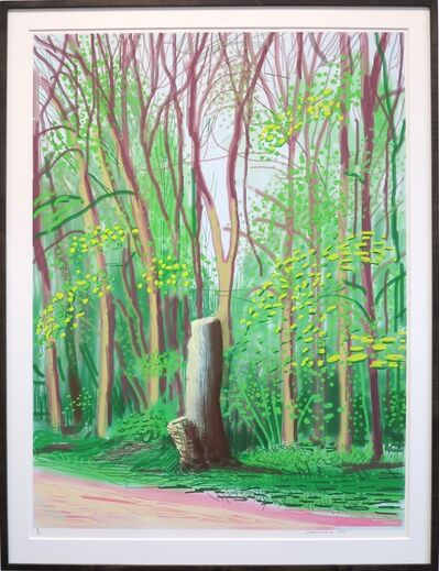 David Hockney, 'The Arrival of Spring in Woldgate, East Yorkshire in 2011(twenty eleven) - 19 April', 2011