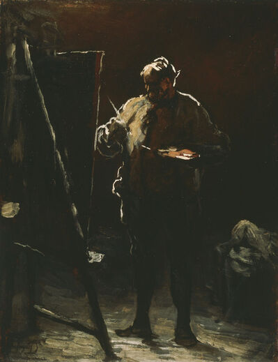 Honoré Daumier, 'The Painter at His Easel', ca. 1870