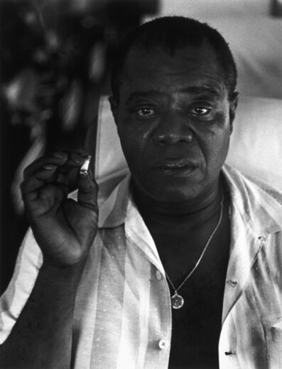 Herb Snitzer, 'Louis Armstrong, On his bus en route to Tanglewood', 1960-printed 1995