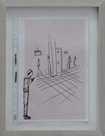 Rosmarie Lukasser, 'Manuskript / Informationsfilter (@S-Bahn)', 2014