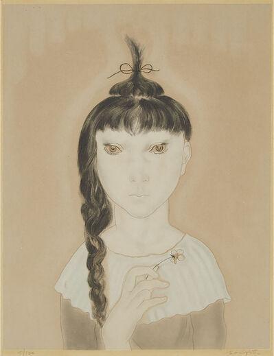 Léonard Tsugouharu Foujita, 'Petite Fille À La Fleur (From Les Enfants)', 1929