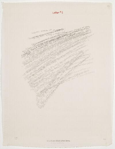 Elena del Rivero, 'Letter #1', 2004