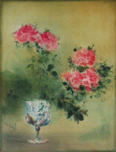 Kaiko Moti, 'Roses in Vase', 1973