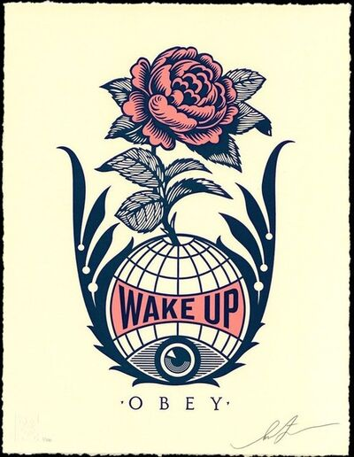 Shepard Fairey (OBEY), 'Wake Up Earth', 2020