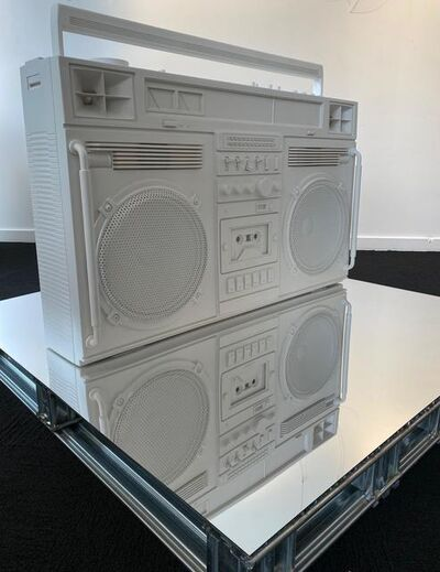 Lyle Owerko, 'White Boombox Sculpture', 2019