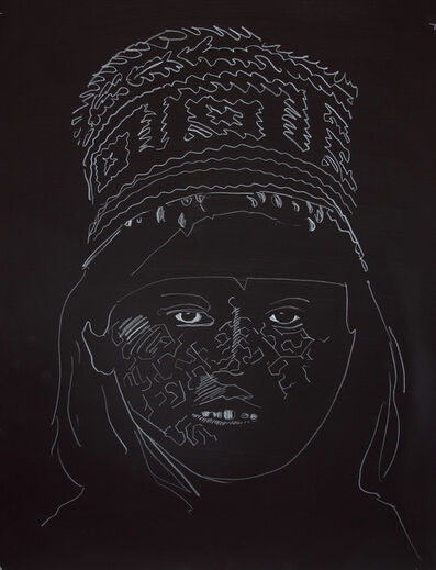 Karri Kuoppala, 'Señorita De La Noche (Black)', 2014