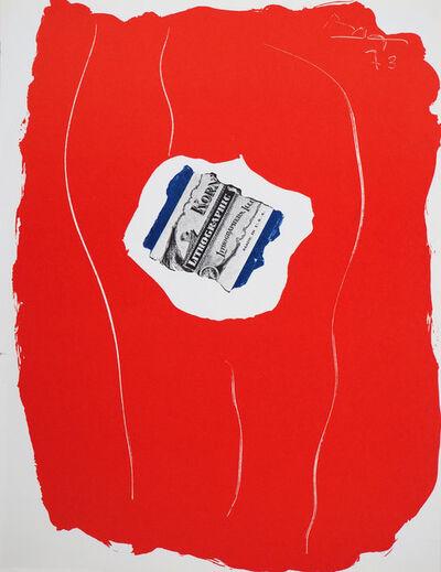 Robert Motherwell, 'Tricolor 1973', 1973