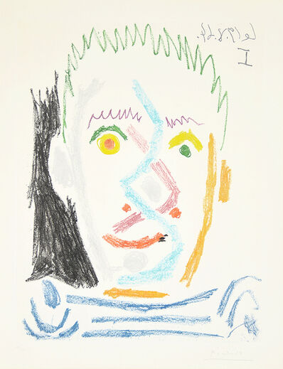 Pablo Picasso, 'Tete d'homme au maillot raye (Man's Head with Striped Shirt), ', 1964