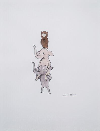 Marcel Dzama, 'Owl + Elephant', Unknown