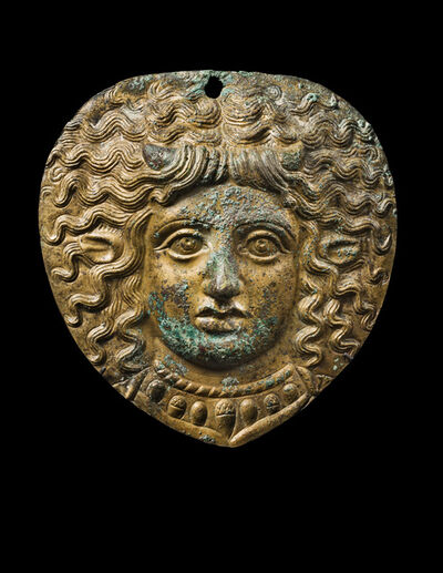 Unknown Greek, 'Ancient Greek Gilded Bronze Plaque of Ino, the Queen of Boeotia', ca. 4th century  BCE