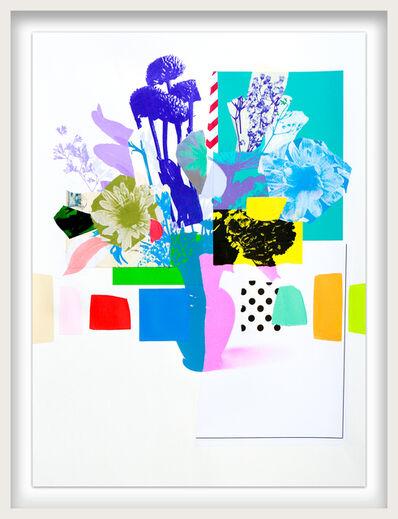 Emily Filler, 'Paper Bouquet (pink vase + purple vase)', ca. 2021