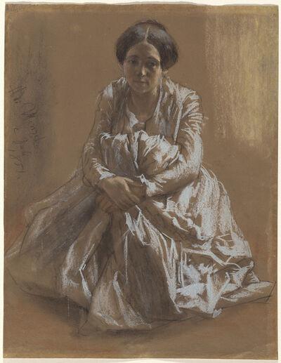 Adolph Menzel, 'The Artist's Sister Emilie', 1851