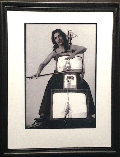 Paul Garrin, 'Charlotte Moormon, TV Cello, Whitney Museum', 1982