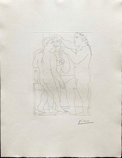 Pablo Picasso, 'Jeune Sculpteur Grec avec sa sculpture: Un homme et un Ephebe', 1933