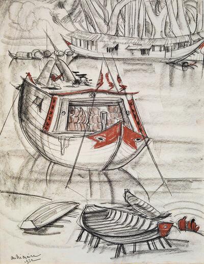 André Maire, 'Merchant ship, Mekong', 1952